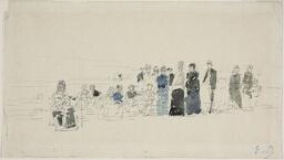 Petticoats on the Beach (recto); Breton Women on the Beach (verso)