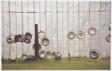 Wall, Fence, and Hubcaps, Near Tuscaloosa, Alabama