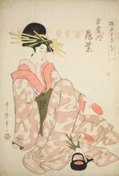 "The Courtesan Hanamurasaki of the Tamaya, from the series ""Courtesans of the Five Festivals (Yukun gosekku)"""