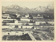 Salt Lake City, Camp Douglas and Wasatch Mountains in the Background
