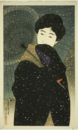 "Snowy Night, from the series ""New Twelve Images of Modern Beauties"""
