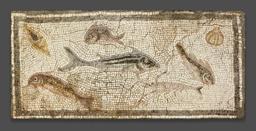 Mosaic Floor Panel Depicting Marine Life