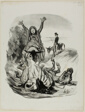 """""""- Oh my God, Mama, mama!........ For heaven's sake..... my daughter, my daughter!!!,"""" plate 26 from Pastorales"""