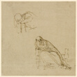 Two Sketches of a Weeping Woman