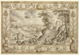 Landscape with the Sacrifice of Isaac within a Decorative Border of Plants and Animals