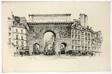 Porte Saint Martin, Paris, from Vingt Lithographies du Vieux Paris