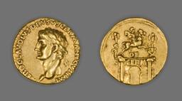 Aureus (Coin) Portraying Nero Claudius Drusus