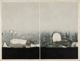 White Wall A, B (Shiro no kabe A, B) (artist's proof)