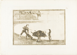 Pedro Romero killing the halted bull, plate 30 from The Art of Bullfighting