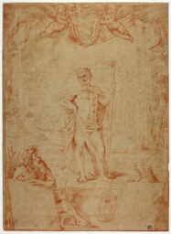 Study for Saturn Presiding over the City of Bologna, with the Arms of Cardinal Giulio Sacchetti