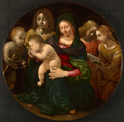 Virgin and Child with the Young Saint John the Baptist, Saint Cecilia, and Angels