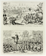 "The Peace Society, or a New ""Field of Action"" for the Military - in ""The Good Time Coming"" from George Cruikshank's Steel Etchings to The Comic Almanacks: 1835-1853 (top)"