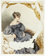 Seated Woman in Black Gown