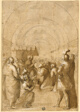 Study for Pope Innocent III Establishing the Franciscan Order
