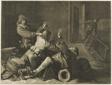 Three Men Struggling in an Interior