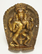 Four-Armed Dancing God Ganesha with His Rat Mount
