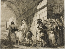 The Holy Family Leaving by a City Gate, plate seven from The Flight into Egypt