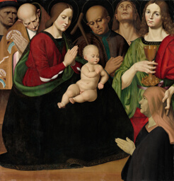 The Holy Family with Four Saints and a Female Donor
