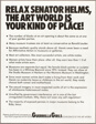 Relax Senator Helms, The Art World Is Your Kind of Place!