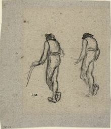 Two Sketches of a Peasant, seen from Behind