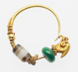 Earring with Dolphin Head Finial