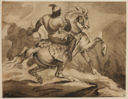 """Haitian Horseman (Scene from the """"French Colonial Wars"""")"""