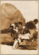Three Men Carrying a Wounded Soldier, from the Images of Spain, Album F