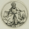 Shield with a Griffin's Foot and Shield with a Cock Held by a Moor