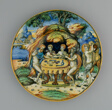 Plate with Theseus in the House of Achelous, from the Lancierini Service
