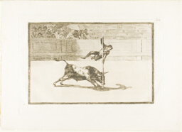 The Agility and Audacity of Juanito Apinani in the ring at Madrid, plate 20 from The Art of Bullfighting