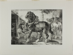 A French Farrier, plate 12 from Various Subjects Drawn from Life on Stone