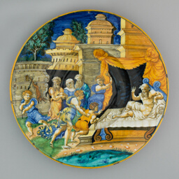 Plate with Isaac Blessing Jacob