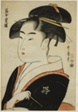 "Tomimoto Toyohina, from the series ""Famous Beauties of Edo (Edo komei bijin)"""