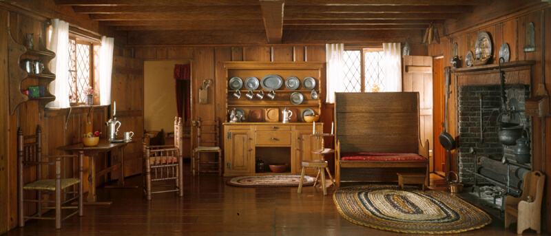 Rooms: A1: Massachusetts Living Room And Kitchen, 1675-1700