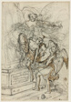 Allegory in Honor of King Stanislas Leczynski (recto); Sketch of Standing Man with Outstretched Arms (verso)