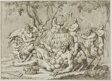Silenus Reclining with Goats and Satyrs