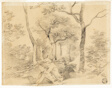 Gainsborough Sketching in Woods