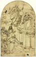 Vision of Saint Francis of Assisi at Portiuncula (recto); Ornamental Design (verso)