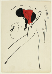 Profile of a Woman with a Red Hat