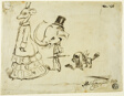 Caricature of Man, Woman and Dog