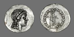 Tetradrachm (Coin) Depicting the God Apollo Gryneios