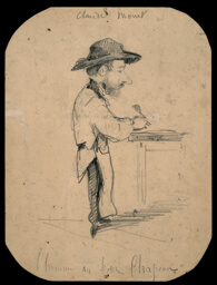 Caricature of a Man in the Small Hat
