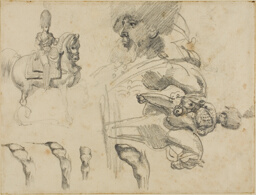 Sketches of Horses, Soldiers, and Hooves