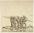 Halberdiers, from the Triumphal Procession of Maximilian
