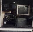 TV sets in store window