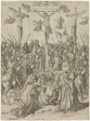 The Crucifixion with the Two Thieves, plate ten from the Life of the Virgin and Christ