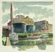 Untitled (Industrial River Scene)