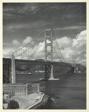 Tanker Passes under Golden Gate Bridge, San Francisco