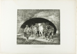 Entrance to the Adelphi Wharf, plate 11 from Various Subjects Drawn from Life on Stone