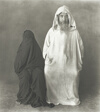 Man in White, Woman in Black, Morocco